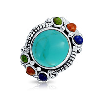 Bling Jewelry Turquoise Chunk Ring
