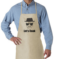 Let's Cook - Breaking Bad Apron - Natural Color - Breaking Bad Gift - 599