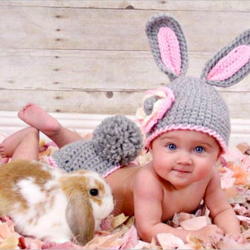 Gary rabbit Newborn babysuit crochet Newborn photo props photography