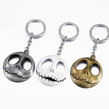 New Halloween Jack Devil Skull Pumpkin Keychain Nightmare Before Christmas Jack Devil Skull Mask Men Chaveiro Gifts
