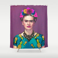 Trendy Frida Kahlo Shower Curtain by Xchange Studio