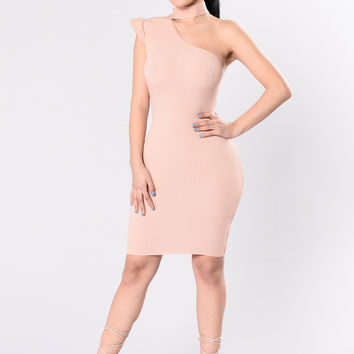 Girlfriend Material Dress - Peach Salmon