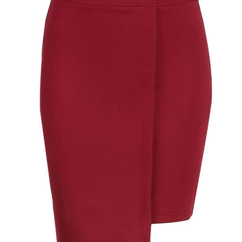 Red Skirt with Zip Back