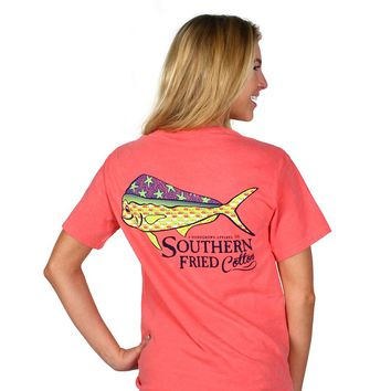 Dorado Short Sleeve Tee Shirt in Watermelon by Southern Fried Cotton