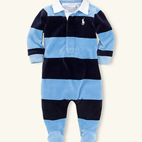 Ralph Lauren Childrenswear Newborn Velour Coverall 					 					 				 			 | Dillard's Mobile