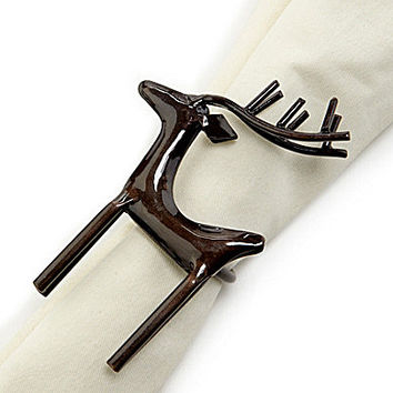 Aman Imports Reindeer Napkin Ring - Copper
