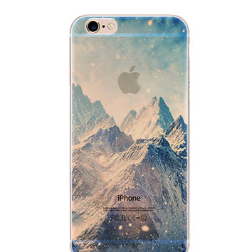 Snow Mountain Clear iPhone Case