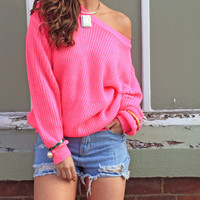 Catch Up Pink Sweater