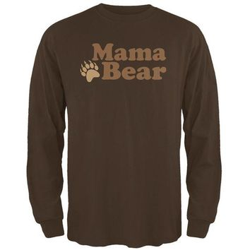 LMFCY8 Mothers Day Mama Bear Mens Long Sleeve T Shirt