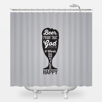 Beer Proof Shower Curtain