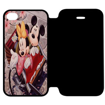Romantic Mickey Mouse and Minnie Mouse iPhone 4 | 4S Flip Case Cover