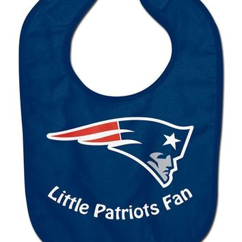 NFL New England Patriots Little Fan Baby Bib Infant Toddler Newborn Baby Shower
