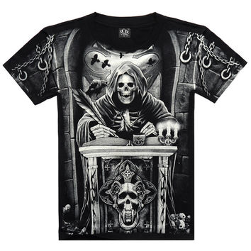 Men T-shirts Plus Size Short Sleeve 3D Print Round-neck Strong Character Fashion Bottoming Shirt [6541161667]