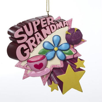 12 Christmas Ornaments - Super Grandma