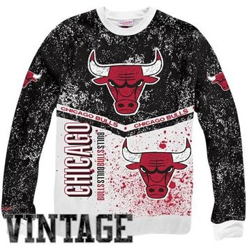Mitchell & Ness Chicago Bulls In the Stands Fleece Sweatshirt - Black