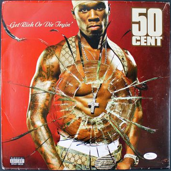 """50 Cent Signed Autographed """"Get Rich or Die Trying"""" Record Album (JSA COA)"""