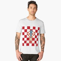 'Croatia National Football Team exclusive design for Russia World Cup 2018' Men's Premium T-Shirt by hypnotzd