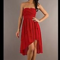 Prom Dress (Promgirl, Red, Highlow)