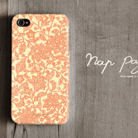 Apple iphone case for iphone iphone 5 iphone 4 iphone 4s iPhone 3Gs : Abstract orange flower