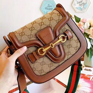 GUCCI New fashion more letter high quality shoulder bag crossbody bag saddle bag