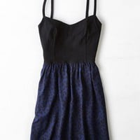 AEO Women's Triple Back Strap Sundress (Cobalt Blue)