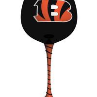 Cincinnati Bengals Artisan Wine Glass