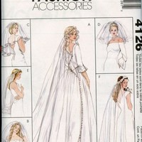 McCalls Pattern 4126 Veil and Headpieces