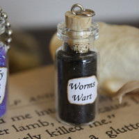 Glass Vial Necklace - Nightmare Before Christmas - Worm's Wart