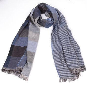 free ship 2016 tartan Scarves men winter new brand Fashion Plaid Scarf for Men Design cozy warm long scarf cotton brown Tassel