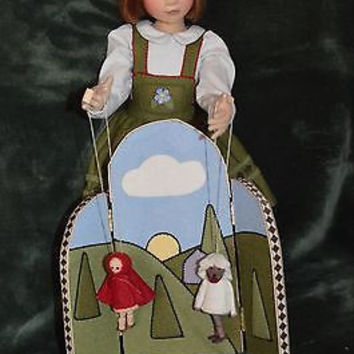Maggie Iacono  American Cloth Artist Doll Red Riding Hood Puppet Theater MIB