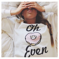 New Design Donuts Printed Sweatshirts For Women Girl Students Harajuku 2016 Hoodies Pullovers