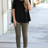 Too Cool Olive Jeans – Dress Up