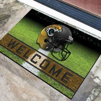 Jacksonville Jaguars Door Mat 18x30 Welcome Crumb Rubber