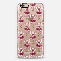 Tiny Teddy Ballerinas - pink on transparent iPhone 6 case by Micklyn Le Feuvre | Casetify