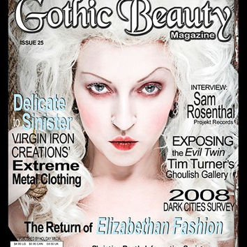 Gothic Beauty Magazine Issue 25 Music interviews with Christian Death, Information Society, Rasputina and In This Moment