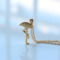 Tiny Flamingo Necklace