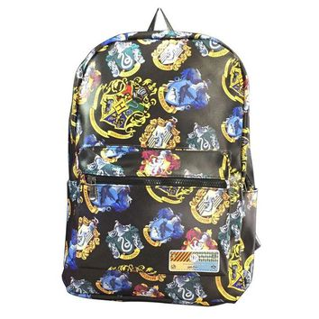 Anime Backpack School New Arrival Harry Potter Backpack Casual Full PU Leather School Bags for Teenager Students with Computer Interlayer Backpacks AT_60_4