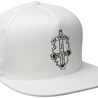 HUF Men's 420 Collection Ashes To Ashes Snapback, White, One Size