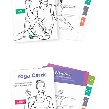 Premium Yoga Cards Visual Study, Practice Guide with Essential Poses, Meditation