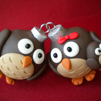 Owl Family Christmas Decorations by Sleepydenas on Etsy