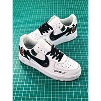 Off White X Nike Air Force 1 Low Premium Af1 White Sport Shoes