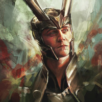 The Prince of Asgard Stretched Canvas by Alice X. Zhang | Society6