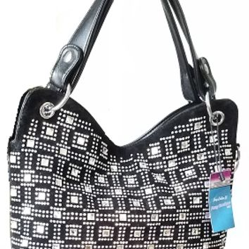 Maze Bling Slouchy Hobo Bag