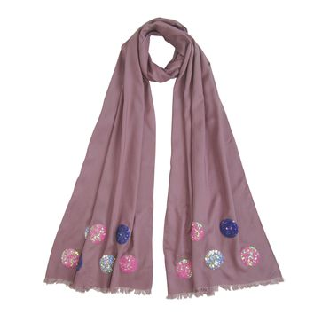Holiday Sequin Scarf Collection : Old Rose
