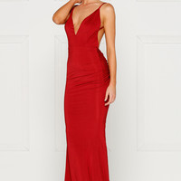 Penelope Gown - Deep Red