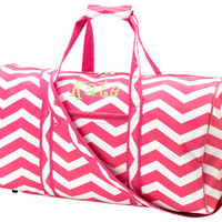 Pink Chevron Large Duffel Bags from Sassy by Sacha