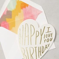 Happy Birthday I Love You Card by Moglea White One Size Gifts