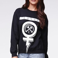 Civil Power Crew Neck Fleece - Womens Hoodie - Black