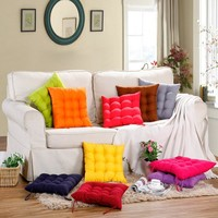 Soft Home Office Square Pearl Cotton Cushion Comfortable Sitting Pillow Buttocks Chair Cushion Orthopedic Strap Seat Cushion