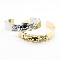 Eye protect bangle bracelet